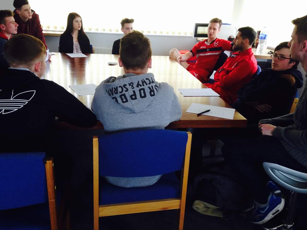 Sport students visit Kidderminster Harriers
