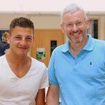 AJ Banister with Principal, Andy Dobson