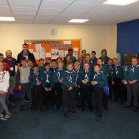 Scout troop visit Kidderminster College